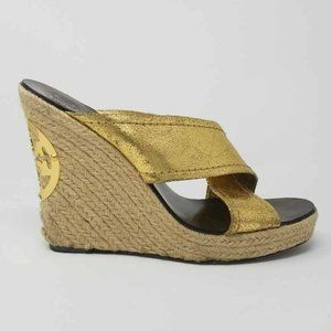 Tory Burch Womens Espadrilles Platform Heels Shoes